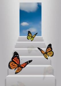 Conceptual Image - Stairway to change/freedom/creativity etc.